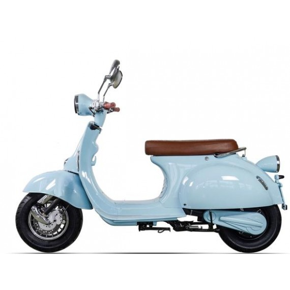 Blue Electric moped