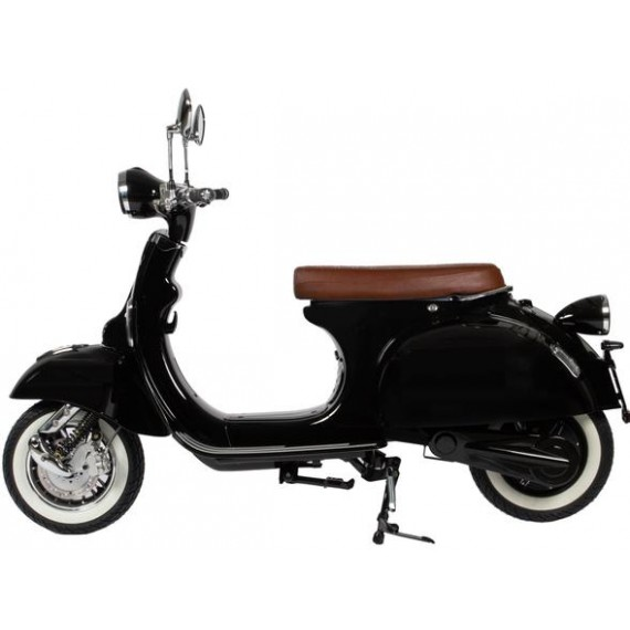 Black Electric moped