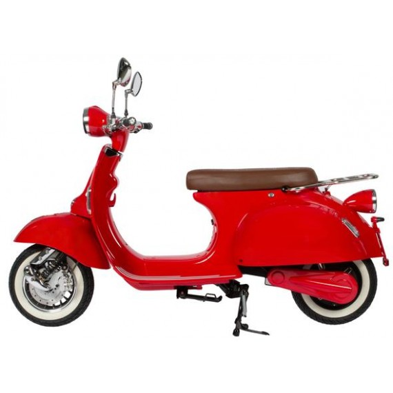 Red Electric moped