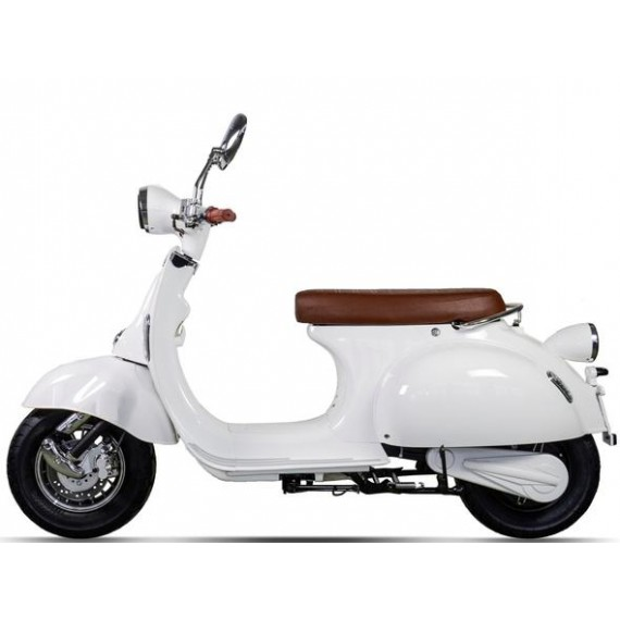 White Electric moped